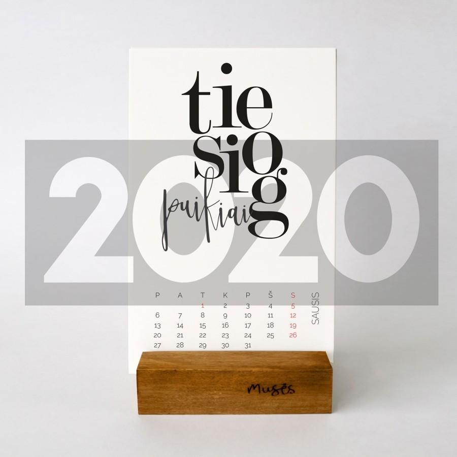 2020 Stalo kalendorius lietuviškas