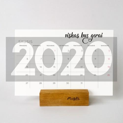 2020 Stalo kalendorius planuoklis