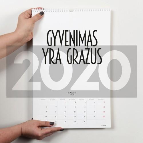 2020 kalendorius lietuviškas