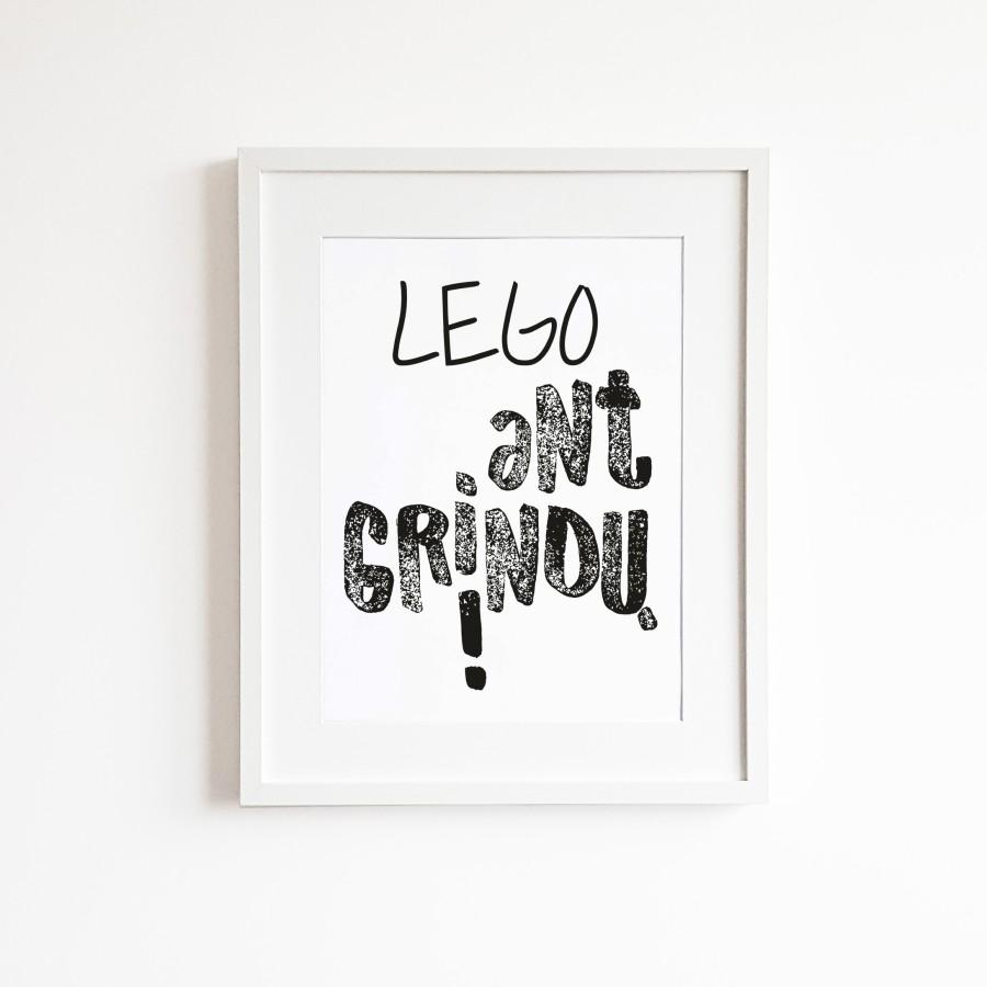 LEGO ant grindų!